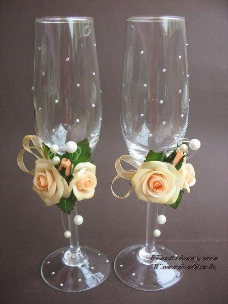 Мастер класс по украшению бокалов на свадьбу своими руками