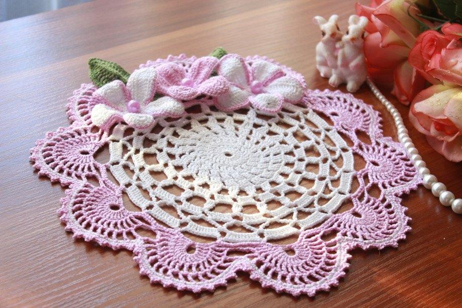 Самый красивые вязание салфетки 101